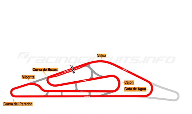 Map of El Pinar, Circuit No. 3 (anti-clockwise) 1999-2008