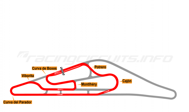 Map of El Pinar, Circuit No. 4 (anti-clockwise) 1975-98