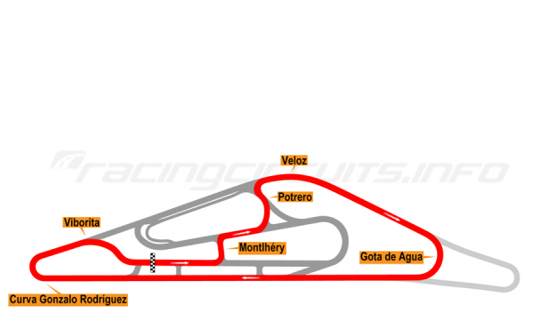 Map of El Pinar, Circuit No. 5 2014-16