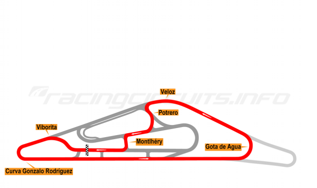 Map of El Pinar, Circuit No. 5 (anti-clockwise) 2009-2013
