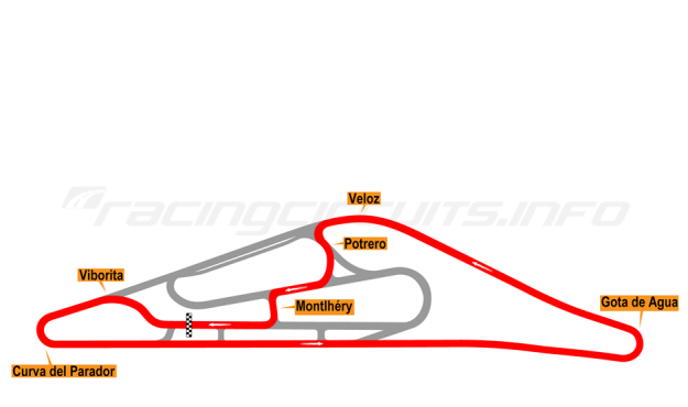 Map of El Pinar, Circuit No. 5 (anti-clockwise) 1975-98
