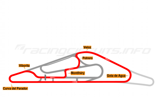 Map of El Pinar, Circuit No. 5 (anti-clockwise) 1999-2008