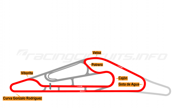 Map of El Pinar, Circuit No. 6 2014-16