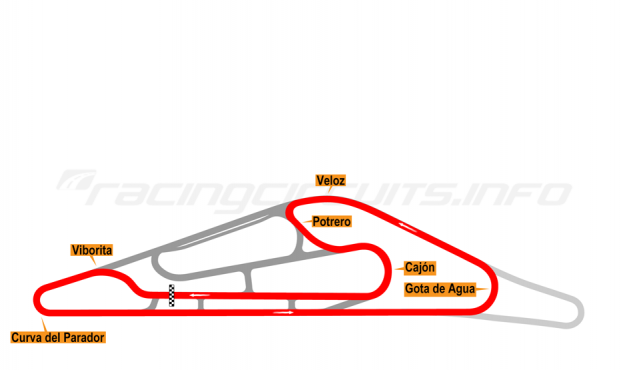 Map of El Pinar, Circuit No. 6 (anti-clockwise) 1999-2008