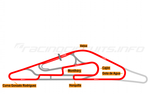 Map of El Pinar, Circuit No. 7 2014-16