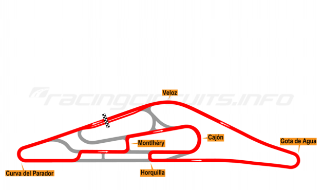 Map of El Pinar, Circuit No. 7 (anti-clockwise) 1975-98
