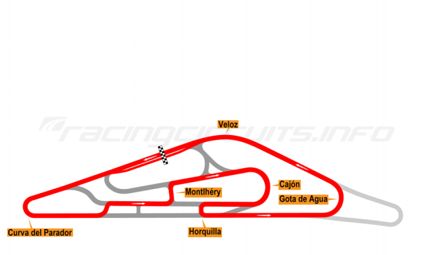 Map of El Pinar, Circuit No. 7 (anti-clockwise) 1999-2008