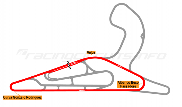 Map of El Pinar, Circuit No. 1 with