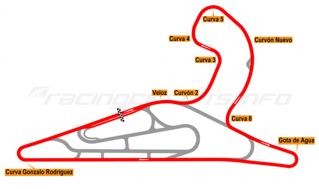 Map of El Pinar, Circuit No. 1 with extension 2017 to date