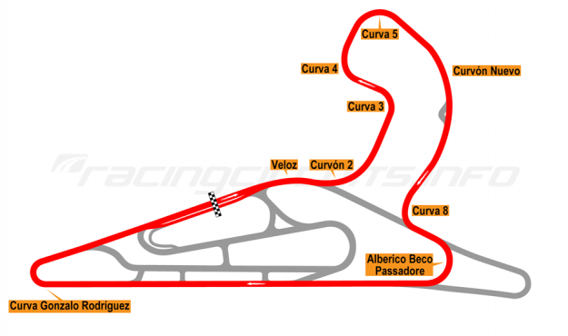 Map of El Pinar, Circuit No. 1 with extension and