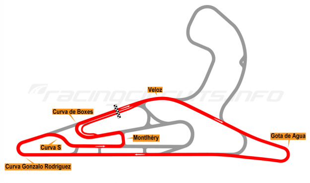 Map of El Pinar, Circuit No. 2 2017 to date