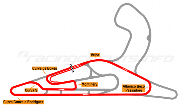 Map of El Pinar, Circuit No. 2 with