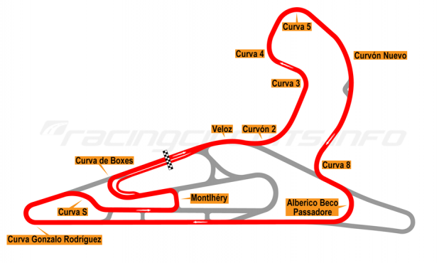 Map of El Pinar, Circuit No. 2 with extension and