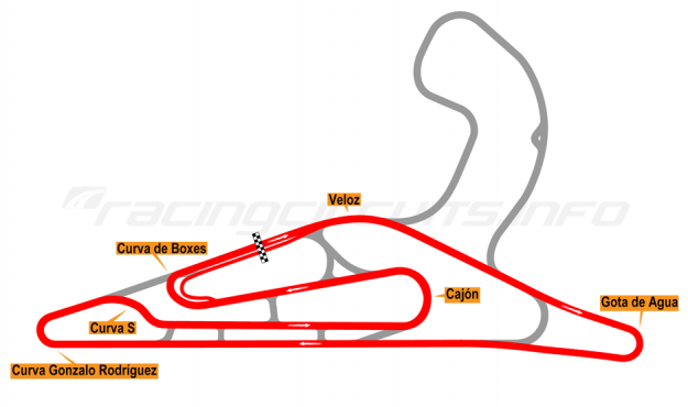 Map of El Pinar, Circuit No. 3 2017 to date