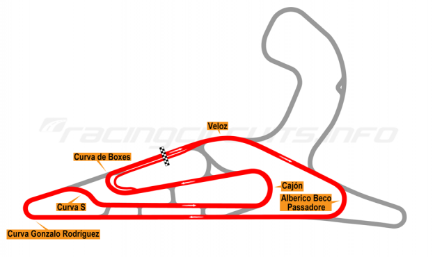 Map of El Pinar, Circuit No. 3 with