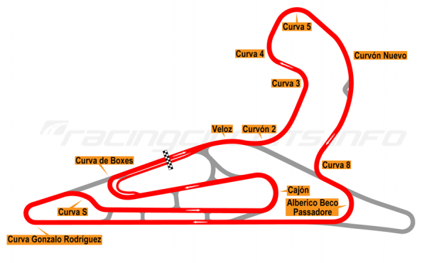 Map of El Pinar, Circuit No. 3 with extension and