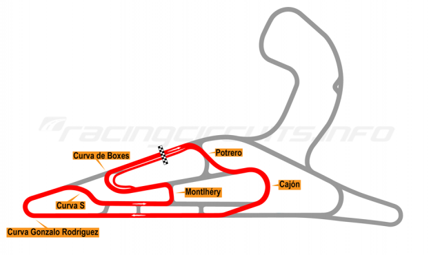 Map of El Pinar, Circuit No. 4 2017 to date