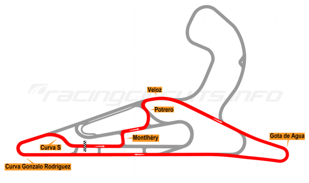 Map of El Pinar, Circuit No. 5 2017 to date