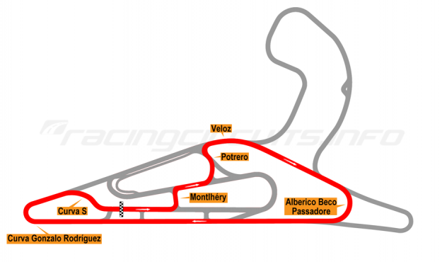 Map of El Pinar, Circuit No. 5 with