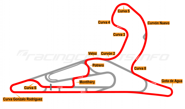 Map of El Pinar, Circuit No. 5 with extension 2017 to date