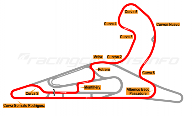 Map of El Pinar, Circuit No. 5 with extension and
