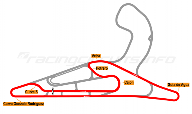 Map of El Pinar, Circuit No. 6 2017 to date