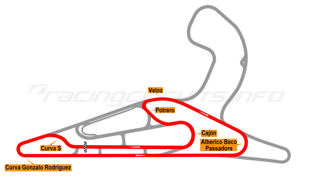 Map of El Pinar, Circuit No. 6 with