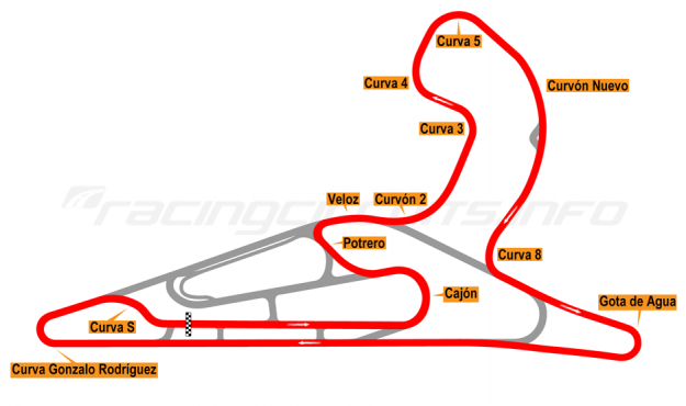 Map of El Pinar, Circuit No. 6 with extension 2017 to date