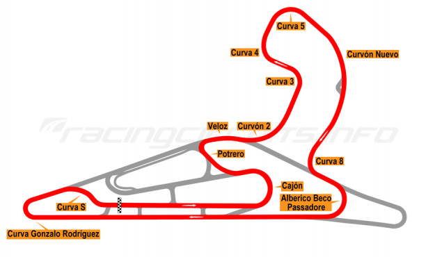 Map of El Pinar, Circuit No. 6 with extension and