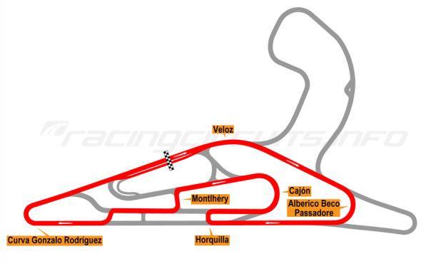 Map of El Pinar, Circuit No. 7 with