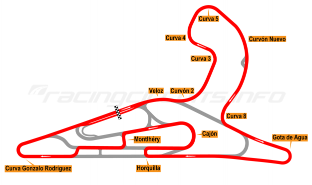 Map of El Pinar, Circuit No. 7 with extension 2017 to date