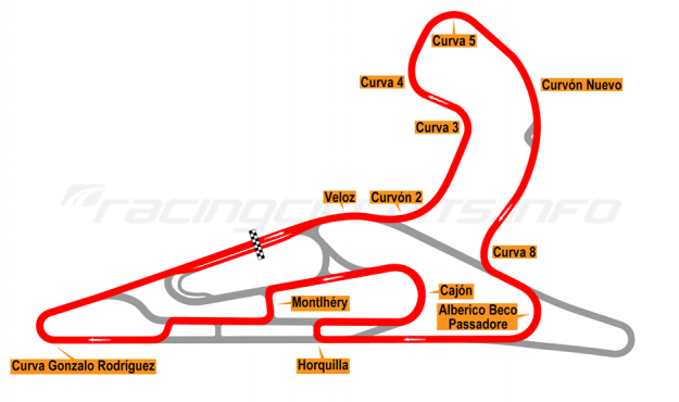 Map of El Pinar, Circuit No. 7 with extension and