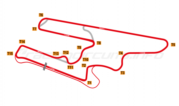 Map of El Villicum, Grand Prix Circuit with Carousel 2019 to date