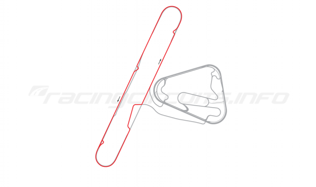 Map of Lausitzring, Dekra test course 2008 to date