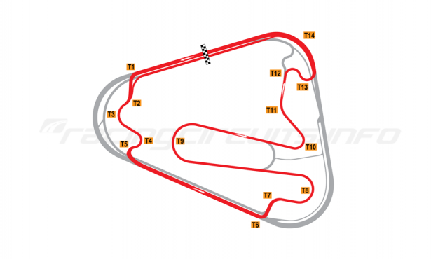 Map of Lausitzring, Grand Prix course 2000-04