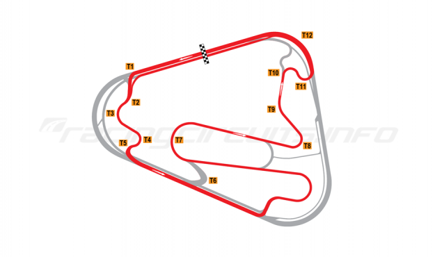 Map of Lausitzring, Grand Prix course 2007