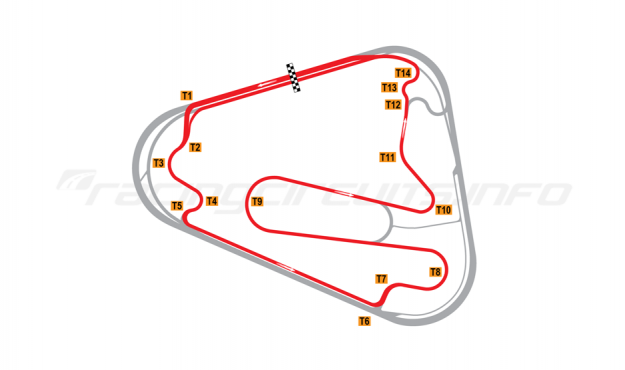 Map of Lausitzring, Motorcycle Grand Prix course 2000-04