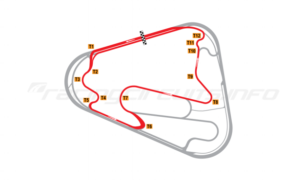 Map of Lausitzring, Motorcycle short course 2008 to date