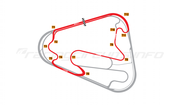 Map of Lausitzring, Short course 2007