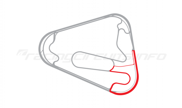 Map of Lausitzring, Handling course 2000-04