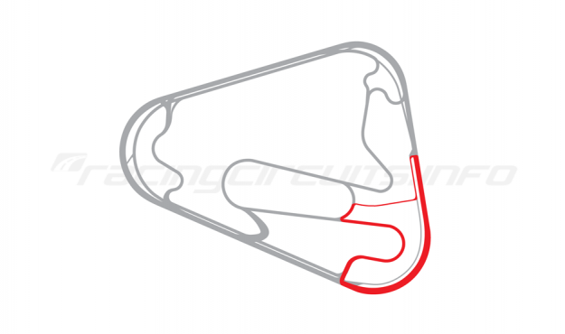 Map of Lausitzring, Handling course 2008 to date