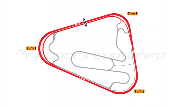 Map of Lausitzring, Superspeedway oval course 2000-04