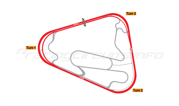 Map of Lausitzring, Superspeedway oval course 2005-07