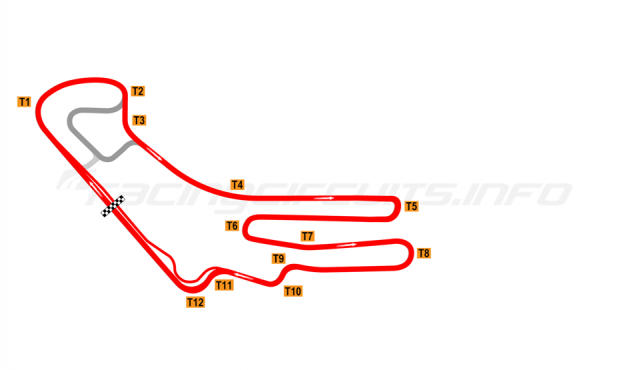 Map of Everland Speedway, Alternative full circuit 2009-2010