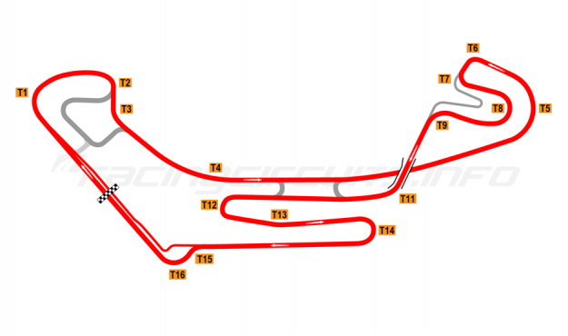 Map of Everland Speedway, Alternative full circuit 2011 to date