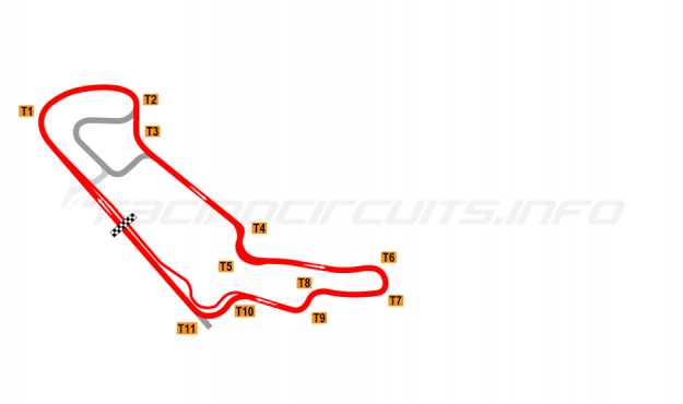 Map of Everland Speedway, Alternative full circuit 1995-2008