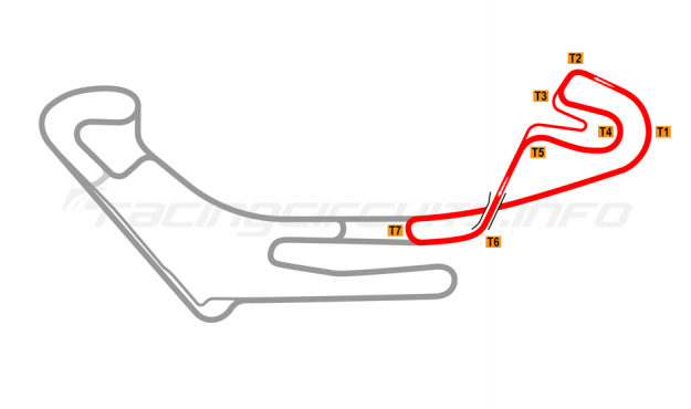 Map of Everland Speedway, Eastern short circuit 2011 to date