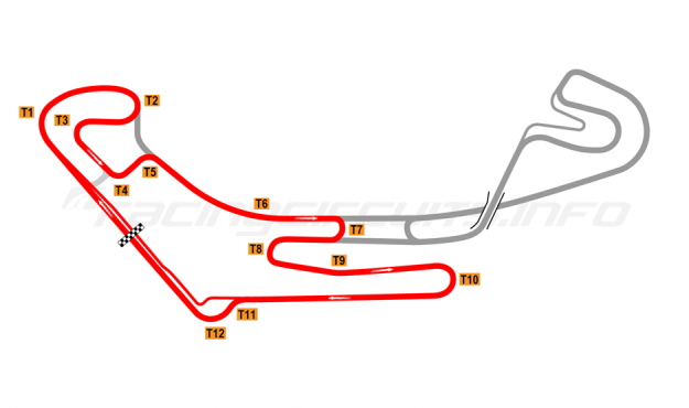 Map of Everland Speedway, Western short circuit 2011 to date