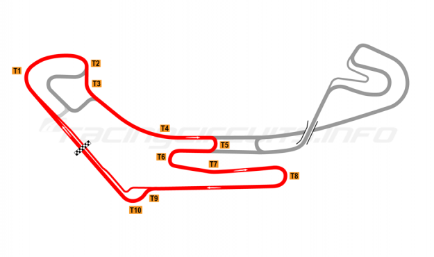 Map of Everland Speedway, Alternative Western short circuit 2011 to date