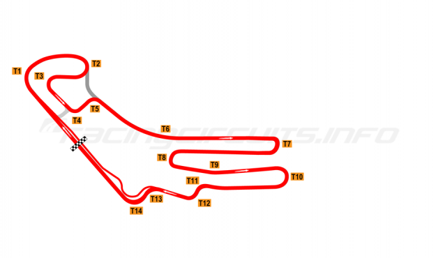 Map of Everland Speedway, Full circuit 2009-2010